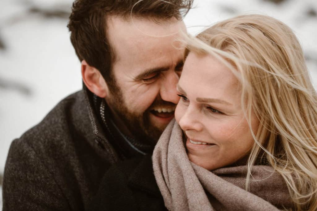 Engagement shoot in the snow